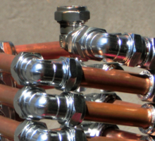 Copper and Chrome Slinki Tiki Torch - FredPereiraStudios.com_Page_17 Sticker