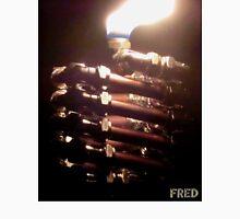 Copper and Chrome Slinki Tiki Torch - FredPereiraStudios.com_Page_18 Men's Baseball ¾ T-Shirt