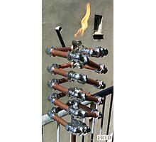 Copper and Chrome Slinki Tiki Torch - FredPereiraStudios.com_Page_19 Photographic Print