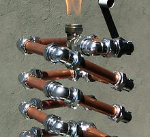 Copper and Chrome Slinki Tiki Torch - FredPereiraStudios.com_Page_20 by Fred Pereira