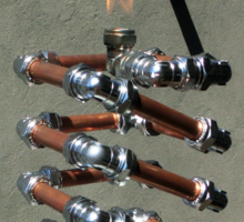 Copper and Chrome Slinki Tiki Torch - FredPereiraStudios.com_Page_20 Sticker