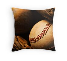 Baseball Still Life Throw Pillow