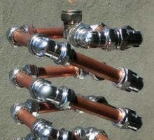 Copper and Chrome Slinki Tiki Torch - FredPereiraStudios.com_Page_22 Sticker