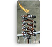 Copper and Chrome Slinki Tiki Torch - FredPereiraStudios.com_Page_24 Canvas Print