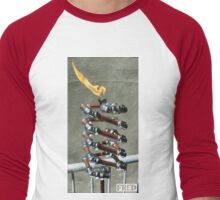 Copper and Chrome Slinki Tiki Torch - FredPereiraStudios.com_Page_24 Men's Baseball ¾ T-Shirt