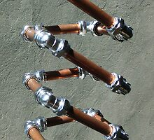Copper and Chrome Slinki Tiki Torch - FredPereiraStudios.com_Page_25 by Fred Pereira
