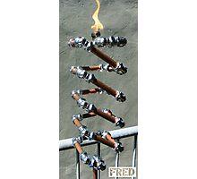 Copper and Chrome Slinki Tiki Torch - FredPereiraStudios.com_Page_25 Photographic Print