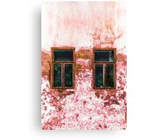 Old Windows on ruined wall Canvas Print