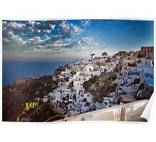 Oia on the Greek island of Santorini Poster