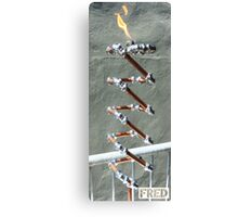 Copper and Chrome Slinki Tiki Torch - FredPereiraStudios.com_Page_27 Canvas Print