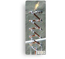 Copper and Chrome Slinki Tiki Torch - FredPereiraStudios.com_Page_28 Canvas Print