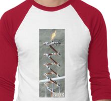 Copper and Chrome Slinki Tiki Torch - FredPereiraStudios.com_Page_28 Men's Baseball ¾ T-Shirt