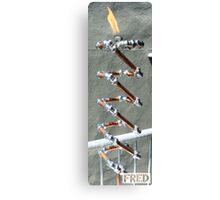 Copper and Chrome Slinki Tiki Torch - FredPereiraStudios.com_Page_29 Canvas Print