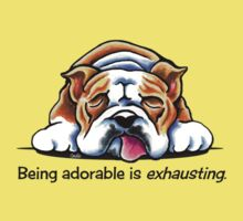Being Adorable Bulldog Blue Kids Tee
