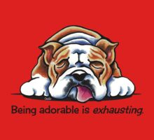 Being Adorable Bulldog Blue Kids Clothes