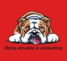 Being Adorable Bulldog Blue One Piece - Short Sleeve