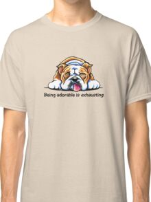 Being Adorable Bulldog Blue Classic T-Shirt
