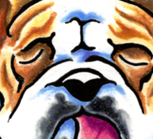Being Adorable Bulldog Blue Sticker