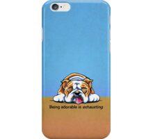 Being Adorable Bulldog Blue iPhone Case/Skin