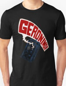 """""""Geronimo!"""" The 11th Doctor Unisex T-Shirt"""