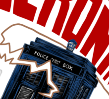 """""""Geronimo!"""" The 11th Doctor Sticker"""