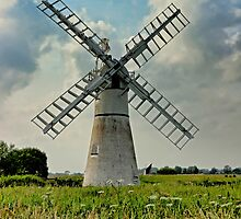 Thurne Dyke Drainage Mill by Avril Harris
