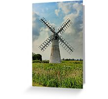 Thurne Dyke Drainage Mill Greeting Card