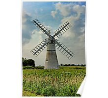 Thurne Dyke Drainage Mill Poster