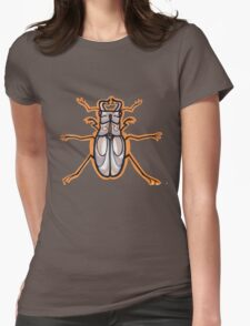 beetle, scarab, tattoo t-shirt Womens Fitted T-Shirt