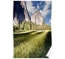 Cathedral Rocks in Yosemite Valley Poster