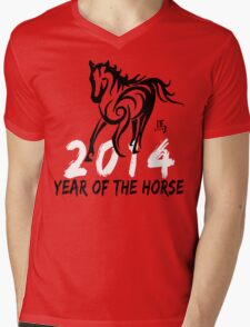 Chinese Zodiac Year of The Horse 2014 Mens V-Neck T-Shirt