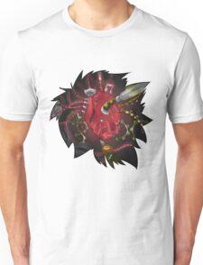 Modded Heart T-Shirt & Stickers Unisex T-Shirt