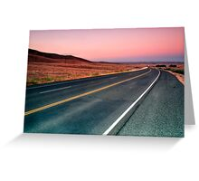 Sunset Drive Greeting Card