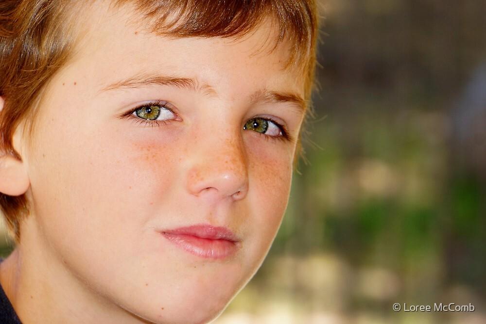 Green Eyed Boy by © Loree McComb