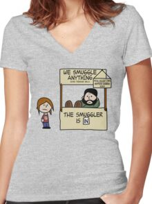 The Last of Peanuts (Ellie) Women's Fitted V-Neck T-Shirt