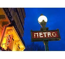 Metro Station in Paris Photographic Print