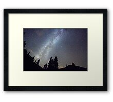 Mountain Milky Way Stary Night View Framed Print