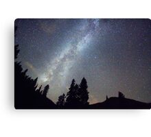 Mountain Milky Way Stary Night View Canvas Print