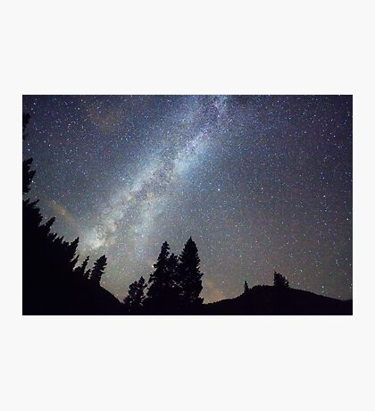 Mountain Milky Way Stary Night View Photographic Print