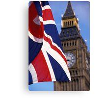 Union Flag And Big Ben Canvas Print