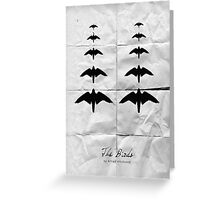 The Birds minimalistic movie poster Greeting Card