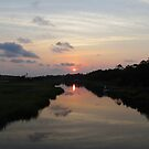 Sunset Over The Marsh by Cynthia48