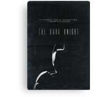 The Dark Knight movie poster no 2 Canvas Print