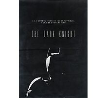 The Dark Knight movie poster no 2 Photographic Print