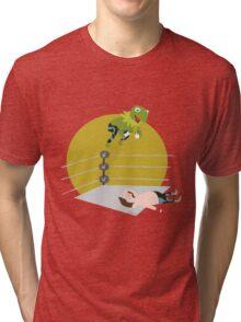 Kermit the Frogsplash Tri-blend T-Shirt