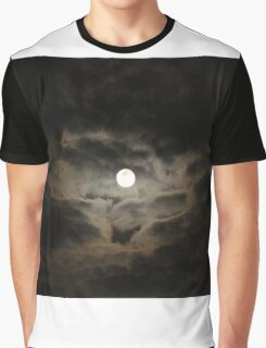 Moon & Clouds Graphic T-Shirt