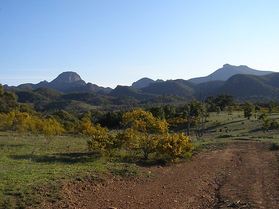 Nearing Sunset! Warrumbungle Nat.Park. N.S.W. Aust. by Rita Blom