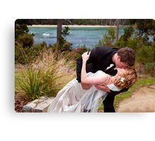 You may kiss the bride Canvas Print