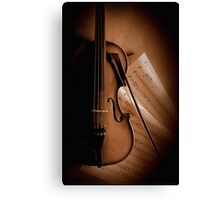 Violin and Sheet Music Canvas Print