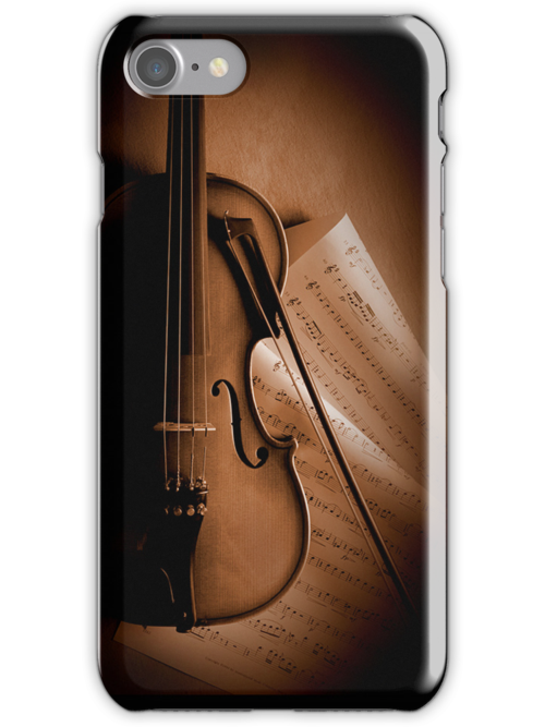 Violin and Sheet Music by printscapes